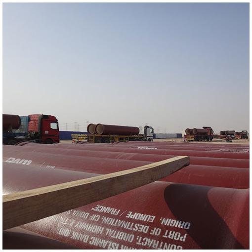 ductile iron pipe delivery transport