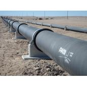 Aerial pipelaying